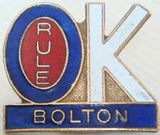 BOLTON WANDERERS Vintage badge Maker P&G SPORTS Brooch pin In gilt 31mm x 27mm