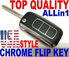 CHROME STYLE FLIP KEY REMOTE FOR TOYOTA GQ43VT2OT KEYLESS ENTRY FOB CLICKER TD2