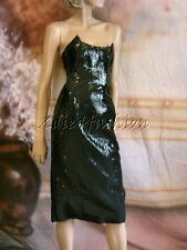 $3900 New JASON WU Stunning Black Waterfall Square Sequin Strapless Dress 4