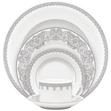 Waterford China Lismore Lace Platinum Formal Dinnerware 20Pc Set, Service for 4