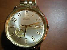 FOSSSIL WOMEN'S YELLOW GOLD STAINLESS MOONPHASE DATE FASHION WATCH * ES3788