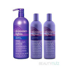 Clairol Shimmer Lights Shampoo Blonde & Silver 31.5 oz + 2 Conditioners 16 oz