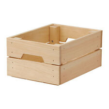 IKEA KNAGGLIG Wooden Pine Storage Box Crate Ideal for Bottles  Cans 23x31cm-B787