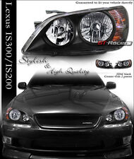 JDM BLACK CLEAR LENS HEADLIGHTS HEADLAMPS PARKING KS LEXUS IS300 IS 300 ALTEZZA