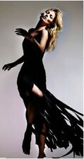 KATE MOSS TOPSHOP Black Fringe Maxi Dress, UK 8-10, EU 36, Limited Edition! £350