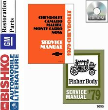 1979 Chevrolet Car Shop Service Repair Manual CD Engine Drivetrain Wiring OEM