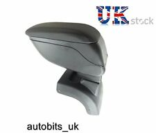 BLACK PADDED LEATHER ARMREST CENTER SPECIFIC FIT FORD FOCUS MK2 2005-2011