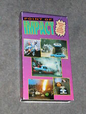 VHS Tape Point of Impact car crashes motorcycle racing NASCAR single seaters etc