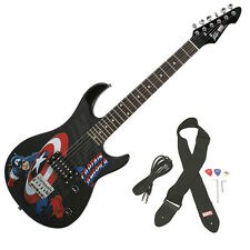 Peavey Rockmaster 3/4 Student Marvel Captain America Beginner Electric Guitar