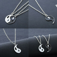 Classical Best Friends Ying Yang Necklaces Taiji Bagua Charm Pendant Necklace