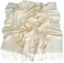 Ivory Solid Colour Shawl Pashmina Scarf Wrap Stole Throw Shawls CJ Apparel *NEW*