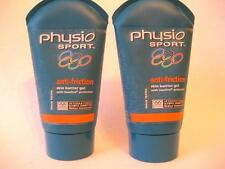 4 x 125ml PHYSIO SPORT ANTI FRICTION SKIN BARRIER GEL 500ml NEW PROTECTION