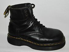 DR. MARTENS  8.5 M BLACK LEATHER LACE UP COMBAT PUNK ANKLE BOOTS SHOES ENGLAND