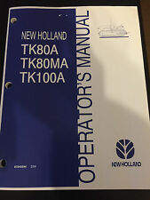 New Holland TK80A T80MA TN100A TRACTOR OPERATORS MANUAL 87045594