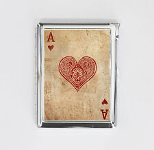 cigarette case ACE OF HEART card poker card holder wallet box with lighter