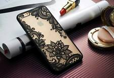 For iPhone 5 6s 7 Plus Ultra-thin Clear Silicone Flower Case Cover and Protector