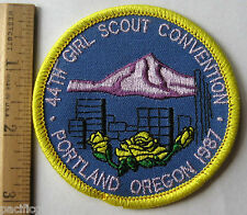 HTF Girl Scout 1987 44th CONVENTION PATCH Portland Oregon Mount Hood NEW Badge