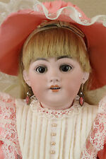 "19"" antique bisque head DEP German S & H Simon & Halbig Doll for French Market"