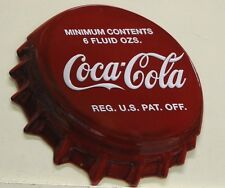 COCA COLA Bottle Cap Style heavy embossed Metal Sign coke      2180261