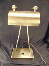 Vintage Double-Necked Table Desk Lamp Office Home Brass Colored Metal Light art