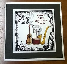 personalised music birthday card  ebay, Birthday card