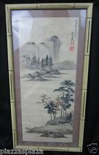 Yueji Wu (吳月磯) 1962 signed taiwan colored ink on paper painting EC RARE!