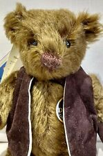DEANS MOHAIR TEDDY BEAR - GRAVY BROWNING - NO 57 OF 500 - NEW WITH TAGS