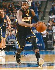 C.J MILES  signed INDIANA PACERS 8X10 PHOTO COA
