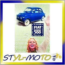 FIBB11 FIAT 500 LOCANDINE IN LATTA CM 30X40 FIAT- O NOVO 500 UFFICIALE ORIGINALE