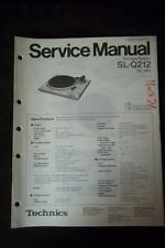 Technics Service Manual for the SL-Q212 Turntable     mp