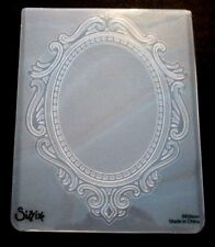 Sizzix Large 4.5x5.75in Embossing Folder ORNATE OVAL FRAME fits Cuttlebug