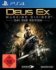 PS4 Spiel Deus Ex: Mankind Divided - Day One Edition (Sony PlayStation 4, 2016)