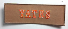"Ghostbusters Yates Name Tag Embroidered 5"" Patch- FREE S&H (GBPA-13)"