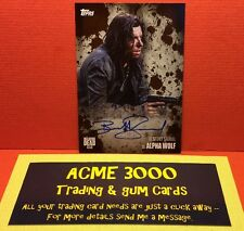 Topps The Walking Dead Season 5 BENEDICT SAMUEL  Alpha Wolf Autograph Card 45/50