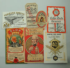 GVS2 LOT 7 ETIQUETTES GENIEVRE HOLLANDE ANCIENNES ALCOOL LIQUEUR LABELS OLD