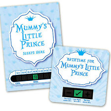 BABY BATH & ROOM THERMOMETER - MUMMYS LITTLE PRINCE SET
