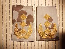 Schulterklappen Rangabzeichen Heer Generalleutnant gold Wüstentarn NEU ##F992
