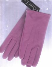 NEW VECCI LADIES HOT PINK NAPPA LEATHER GLOVES (SIZE SMALL/MEDIUM/LINED)