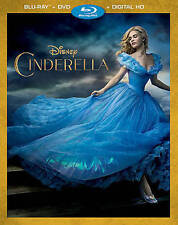 Cinderella (Blu-ray/DVD, 2015, 2-Disc set) Walt Disney FREE FIRST CLASS SHIPPING