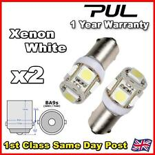 2x T11 5050 SMD BA9S 5 LED White Car Wedge Side Light Bulb Lamp 12V