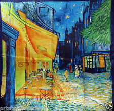 Art Van Gogh, Café Terrace at Night  Silk Square Scarf Oil Paint Scarf