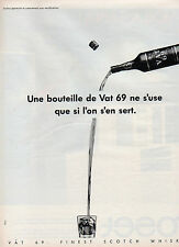 Publicité Advertising 1984  WHISKY  VAT 69