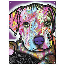 Baby Pit Bull Dog Dean Russo Pop Art Sign Pet Steel Wall Decor 12 x 16