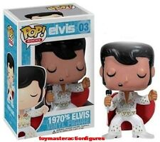 FUNKO POP 2012 ROCKS ELVIS 1970 #03 RETIRED Vinyl Figure w/Protector IN STOCK