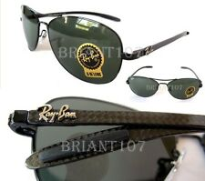 New Unisex Sunglasses Ray-Ban RB8301 Carbon Fiber 002 Black/Green