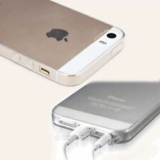 Conjoined Anti-Dust Plug Cap Soft Rubber Transparent Case Cover for iPhone 5 5s