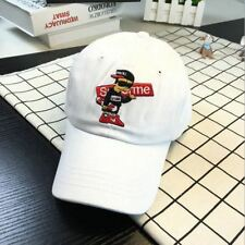 Supreme Hat Skater Kid Embroidered Strapback Unstructured White USA SELLER