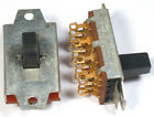SWITCH SLIDE 3-POSITION! 4-POLE! GOLD-PLATE! - SWITCHCRAFT *UNUSED* *NOS* Qty:2