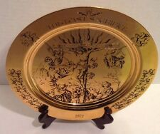 Collectors Plate 24K Gold Plated Brass The Last Sacrifice Engraved No 393 of 500
