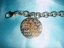 Tiffany & Co. Silver Notes 5th Avenue Round Tag Bracelet Sterling 925 Brand New!